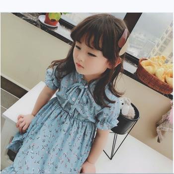 8523cc11a648477 Летнее платье для маленьких девочек от 2 до 6 лет хлопковое детское платье  для девочек