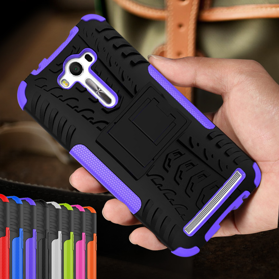 Cubra Para O Caso ASUS ZenFone 2 Laser ZE500KL ZE550KL TPU + PC Caso de  Telefone celular Para 3 Laser ZC551KL 3 MAX ZC520TL ZC553KL Tampa Traseira