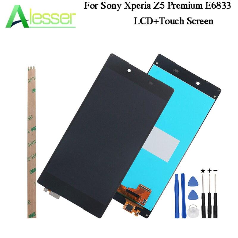 Alesser pour Sony Xperia Z5 Premium E6833 écran LCD et écran tactile testé assemblage pour Sony Xperia Z5 Premium + outils 5.5''