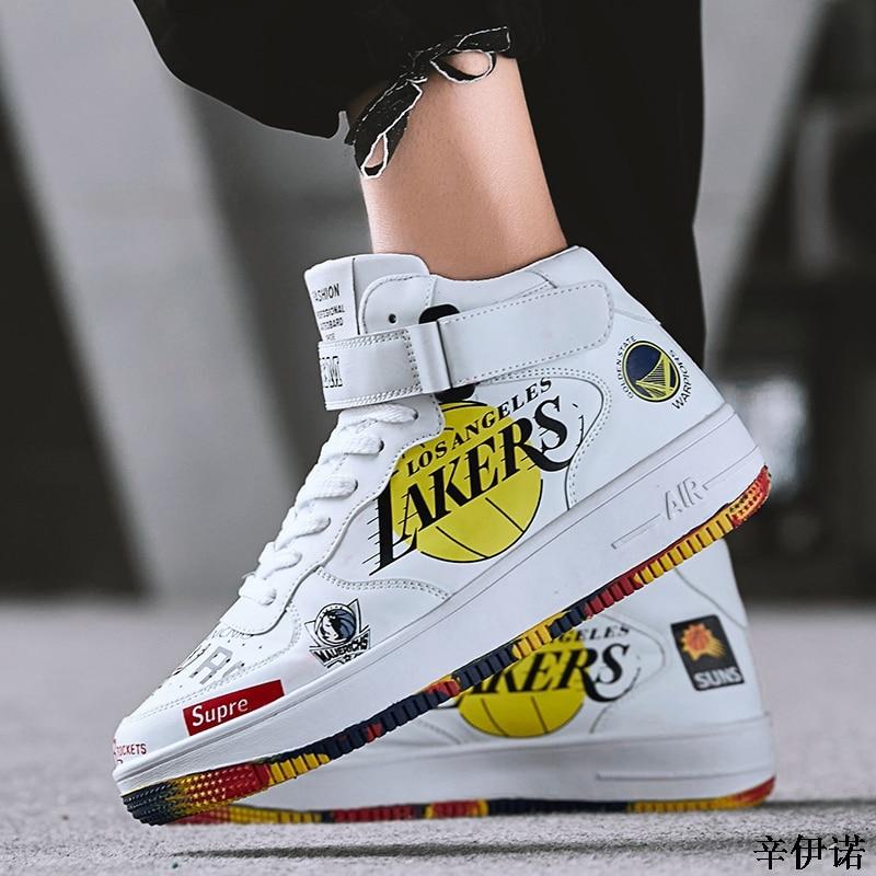 Cuero West Lujo 2019 Zapatos Nuevo De hop Top Marca Casuales Blanco Hip La Alta  Deporte Zapatillas Estrella Kanye Negro blanco Los Hombres pHSpn 173599fdc30