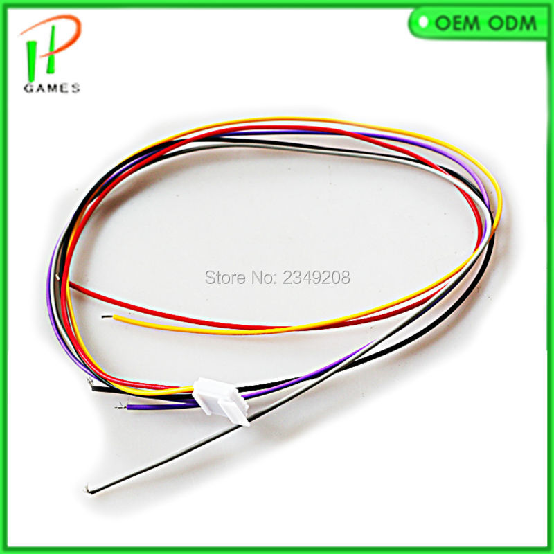10 PCS Stretched joystick wires cable 5 pin connector wiring use for sanwa JLF TP 8YT aliexpress com buy 10 pcs stretched joystick wires cable 5 pin Off-Road Light Wiring Harness at soozxer.org