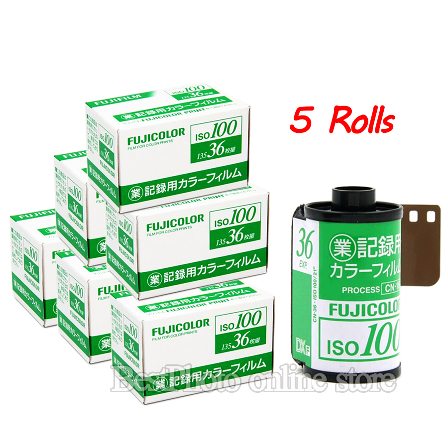 5 Rolls Fujifilm Fujicolor 135 color Film 100 Exposure for 135 Format Camera Lomo Holga 135 BC Lomo Camera Dedicated