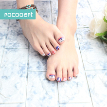 Y5501/New Arrival 2016 Beauty Uv Gel 3d Toe Nail Art Foil Stickers Colored Stripes Anchor Design Manicure Auto Adhesive Decals