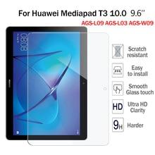 "9 H Dureza Vidrio Templado Para El Huawei Mediapad T3 10.0 9.6 ""Protector de Pantalla de Cine Para Huawei T3 10 AGS-L09 AGS-L03 AGS-W09"