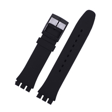 EACHE 17mm 19mm Silicone Replacement Watch Band Strap Fit For SWATCH Different Colors For Men or