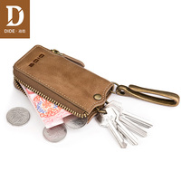 DIDE 2018 New Design Genuine Leather Wallet Men Small Coin Purses Male Waist pendant Car key bag brand china 778
