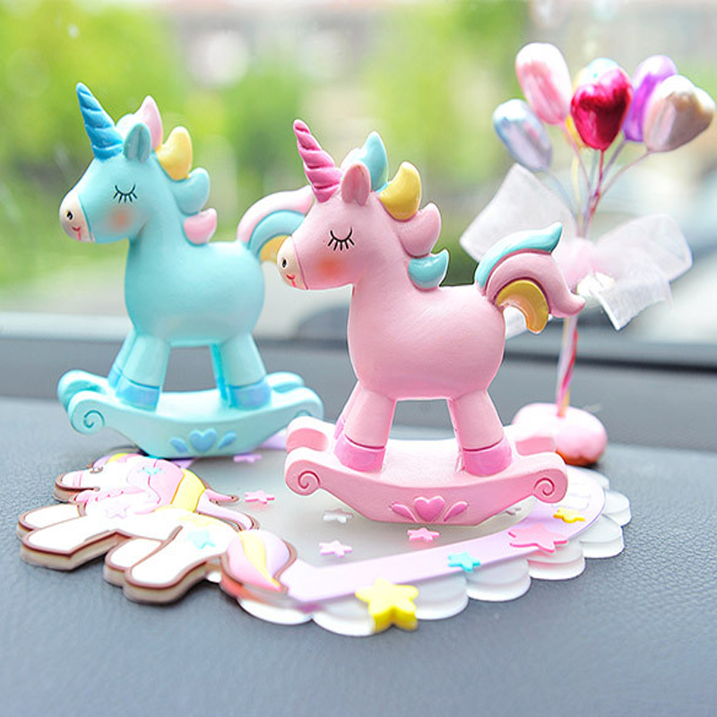 Image 2 - Car Fragrance Resin Unicorn Car Air Conditioning Vent Perfume Clip Creative Cute Air Freshener Solid Balm Decoration Ornaments-in Ornaments from Automobiles & Motorcycles