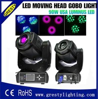 2pcs Lot Flight Case Package 90W LED Moving Head Spot Stage Lighting DMX 512 Control 90W