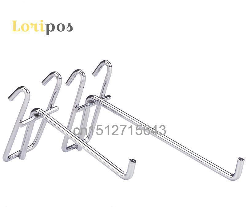 Gridwall Hook Mat Hook Shelf Hanger Pegs Plating Hardware Shelf Mount Bracket Display Hook Organizer Single Hook For Wire Mesh