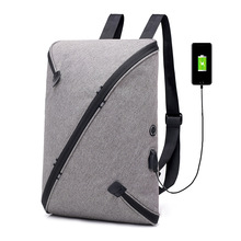 New casual backpack student bag USB charging travel