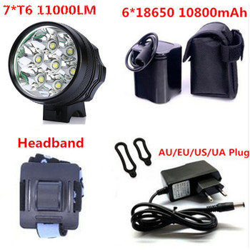 JEANIGHT bicycle light xml 7t6 11000LM Bike Led light 3 modes Wide floodlight waterproof Cycling Accessories 10800mah battery Люмен