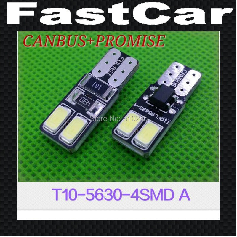 10X 12V no polarity Canbus T10 4 LED 5630 SMD 4SMD Interior Bulb Light 194 168 W5W Parking Backup Lamps Auto No Error light