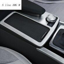 Стайлинга автомобилей интерьера Нержавеющаясталь стикер держатель стакана воды Панель украшения отделка для Mercedes Benz C class W204 2009-2014 LHD