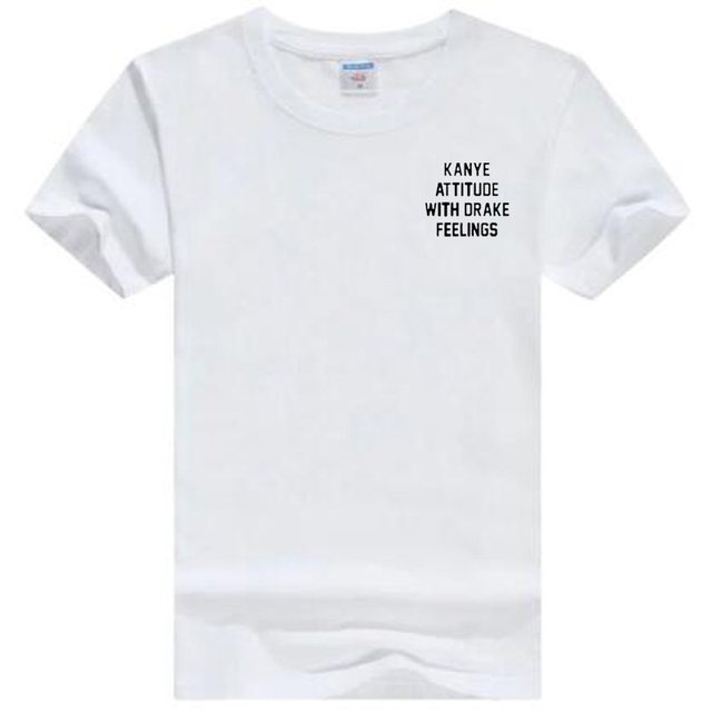 Online Shop Kanye Attitude With Drake Feelings Pink T Shirt Women ...