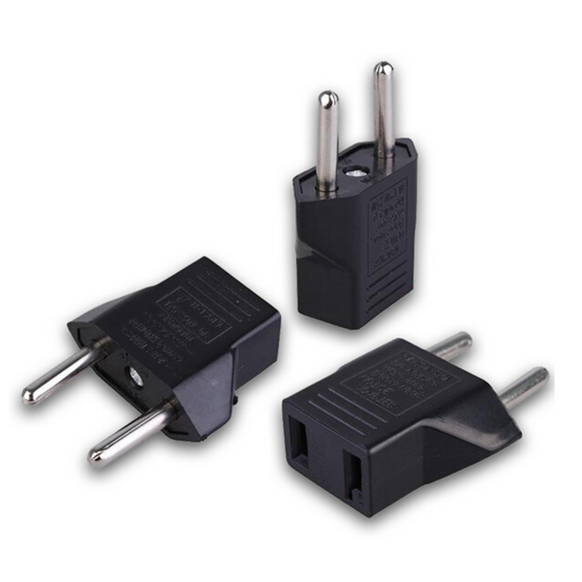 6A USA To EU EU Power Adapter Plug Europe Wall Power Charge Outlet Sockets US 2 Flat Pin To EU 2 Round Pin Plug Socket Adapte