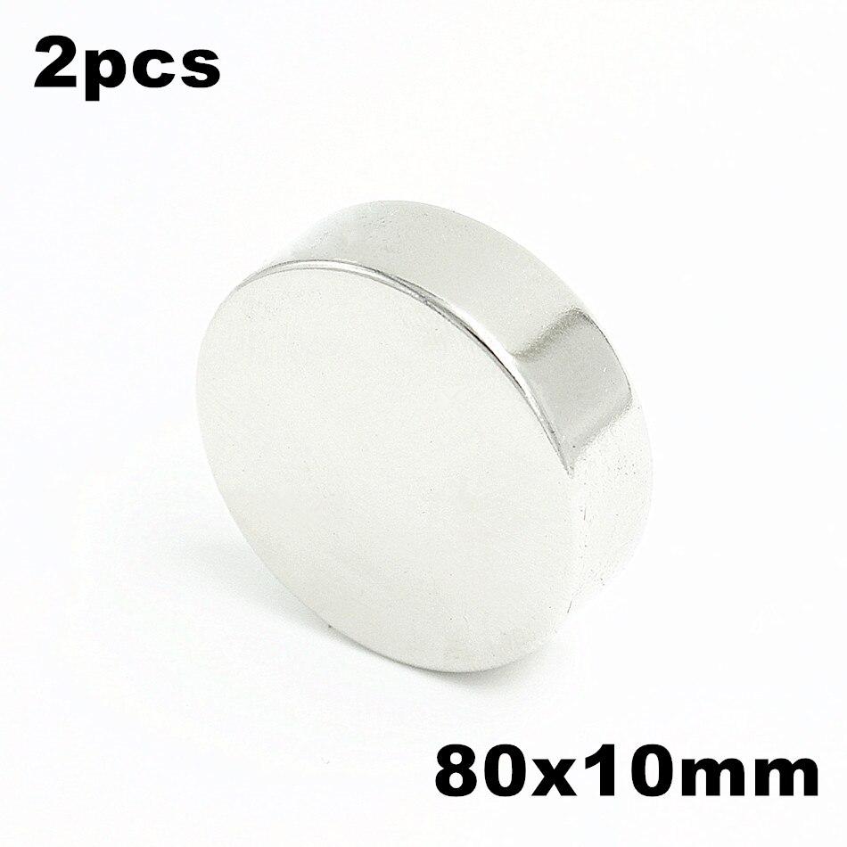2pcs 80x10mm Super Powerful Strong Bulk Small Round NdFeB Neodymium Disc Magnets Dia 80mm x 10mm N35 Rare Earth NdFeB Magnet цена