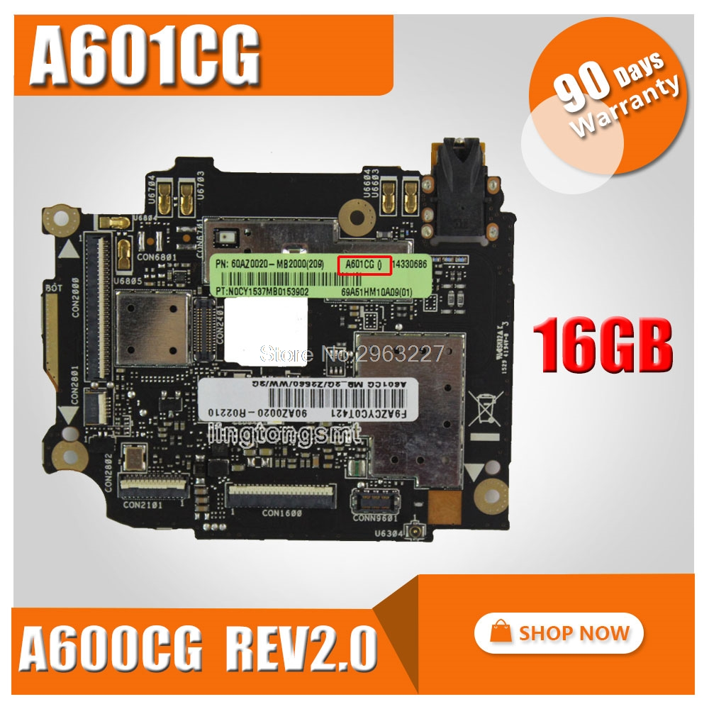 freeshipping! for ASUS ZenFone 6 A601CG motherboard A600CG REV2.0 16GB Rom 2GB RAM Logic Board Original mainboard international language european original google mainboard chips logic for galaxy note 2 n7100 motherboard 16gb clean imei