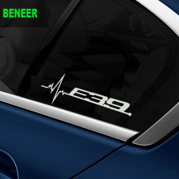 M power performance E28 E34 E39 E60 E61 LOGO car windows sticker Car sticker for BMW 5 series 520i 525i 530i 535i image