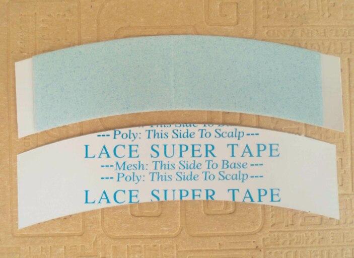 18 шт./лот 7,6*2,2 см кружева супер ленты двойной слой супер клейкая лента для парик Профессиональный кружева парик ленты ...