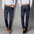 2017 New Famous Jeans Brand  Men Cotton Straight Casual Black Jeans Men Quality Mens Black Blue Jeans Spring Autumn Pants