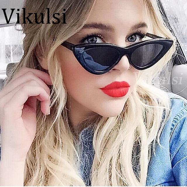 efd594f6f92 2018 Fashion Retro Cat Eye Sunglasses Women Brand Designer Vintage Black  Red White Cateye Sun Glasses