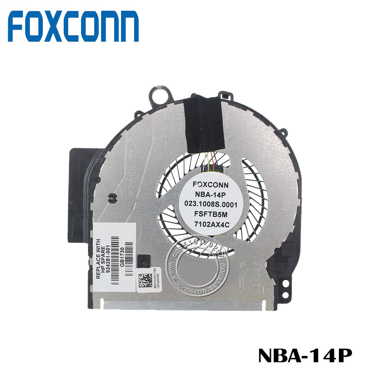 FOXCONN CPU COOLING FAN FOR HP Pavilion X360 14M 14M-BA011DX 924281-001 023.1008S.0011