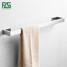 цена на FLG Single Towel Bar 304 Nickel Brushed Wall Mounted towel rail Towel Hanger Towel Rack Bathroom Accessories