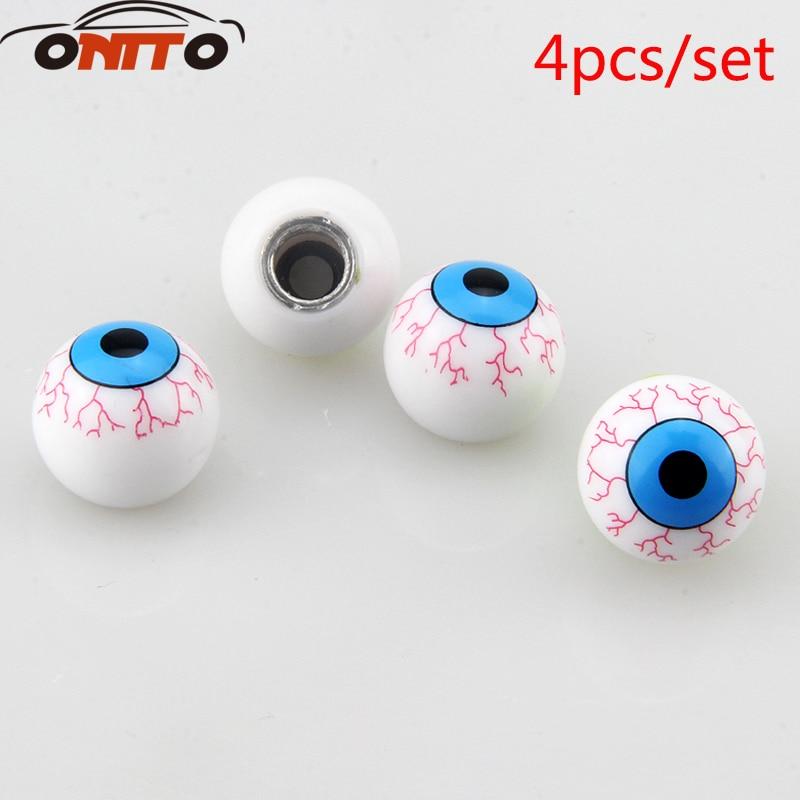 Hot selling 4pcs/lot Eye Ball Car Bike Moto Tires Wheel Valve Cap Cover Car Styling