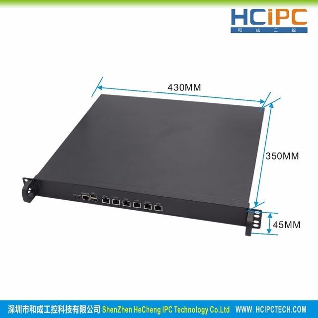 HCiPC B205-3 HCL-SB75-6LC, 4G+64G+I3,LGA1155 B75 82574L 6LAN 1U Firewall Barebone,6LAN 1U Router,6LAN Motherboard 1
