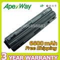 Apexway nueva 6600 mah 9 celdas de batería del ordenador portátil xps xps 14 15 para dell l401x l501x l502x l521x 17 l701x 3d L702x