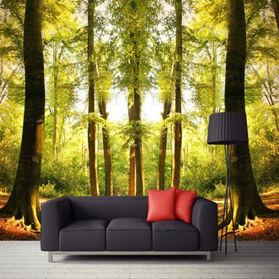 Free Shipping Forest pastoral natural scenery living room bedroom large wall painting KTV bar 3D landscape mural wallpaper  free shipping pine forest 3d landscape background wall living room bathroom bedroom home decoration wallpaper mural
