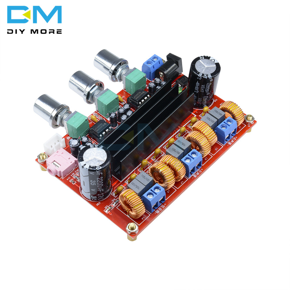 <font><b>TPA3116</b></font> <font><b>D2</b></font> <font><b>2.1</b></font> Digital Audio Amplifier Board TPA3116D2 Subwoofer Speaker Amplifiers DC 12V 24V 2*50W 100W 3 Channels Module image