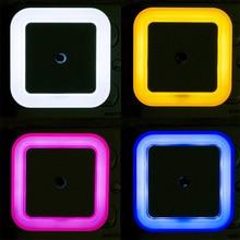 NZK30 US EU Mini LED Night Light Control Auto Sensor Baby Bedroom Lamp Square White Yellow AC110-220V LED Night Light For Baby
