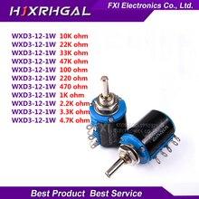 2 шт. WXD3-12series WXD3-12 1 Вт 1 К 2K2 3K3 4K7 10 К Ом 100R 220R 470R 2.2 К 3.3 К 4.7 К WXD3-12 1 Вт проволочный потенциометр