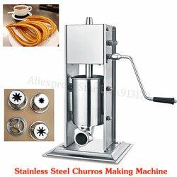 Kommerziellen 3L Manuelle Spanisch Churros Maschine Edelstahl Vertikale Wurst Stuffer Salami Maker
