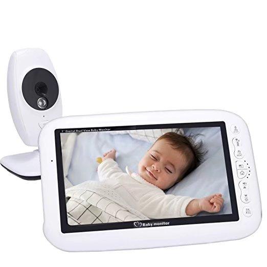 7 Inch Portable font b Wireless b font Intercom Baby Monitor