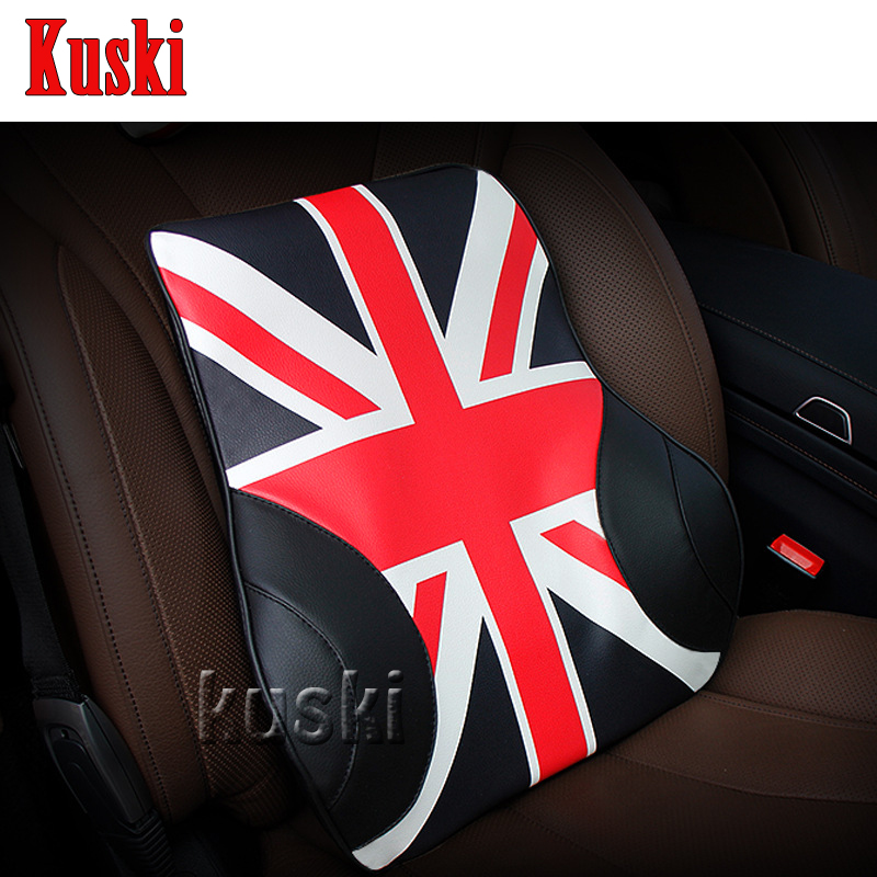 NEW 1pc Comfortable Car Waist Cushion For Ford Focus 2 3 Fiesta Mondeo Kuga Fusion Ecosport Seat Leon Ibiza Altea Saab 9-3 9-5 ouzhi for ford focus 2 3 mondeo fiesta f150 orange brown brand designer luxury pu leather front