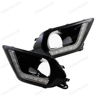 Newest Top Quality DRL Daytime Running Lights For S Ubaru F Orester 2013 2014 2015 Car