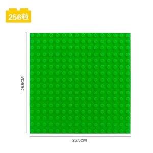 Image 4 - Blocchi di grandi Dimensioni Piastra di Base 16*16 Punti 25.5*25.5 centimetri di Mattoni Piastra Solida Giocattoli Giocattoli Per Bambini bambini FAI DA TE di Grandi Dimensioni