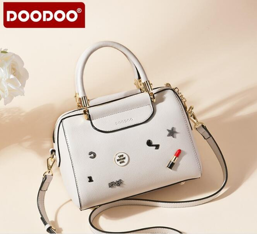 DOODOO Hot sale handbag women casual tote bag female large shoulder messenger bags high quality PU leather bag bolsa D050