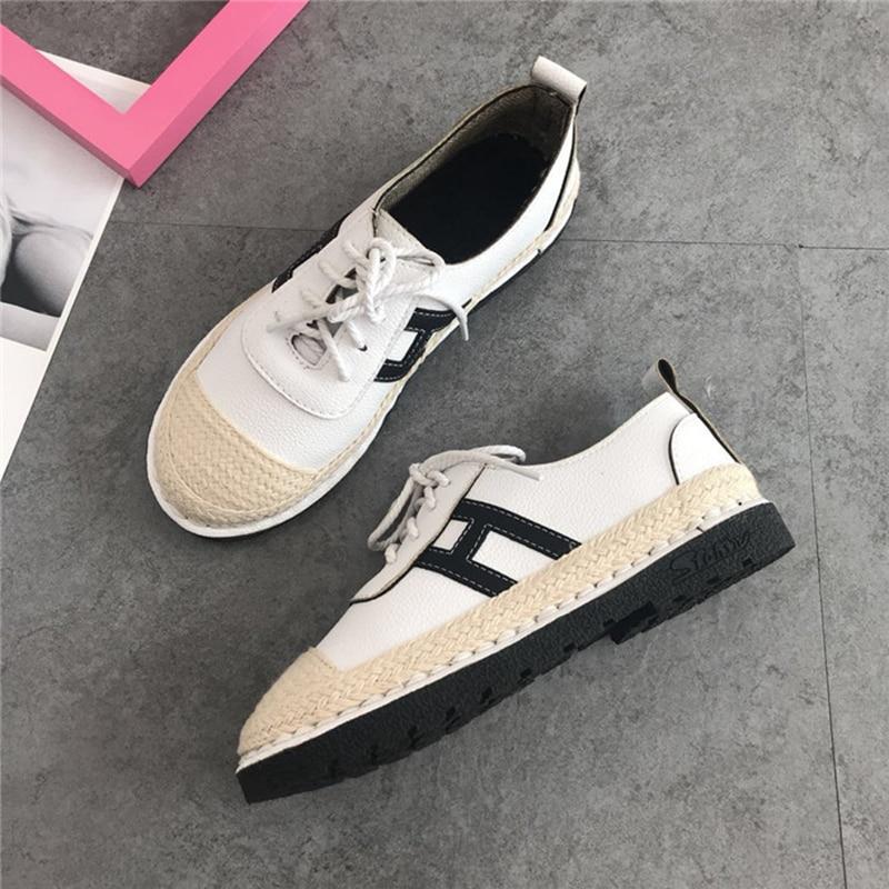 Casual Couleur Chaussures Confortable 2018 Rond Simple Respirant Chaussures Printemps Mode Beige Plates Bout Solide Nouveau rose blanc 7xxXqpgR