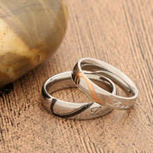 Love letters Wedding Rings for Men Women Couple Rings Eternal Love Engagement Wedding Anniversary Ring Jewelry Classic Gift(China)