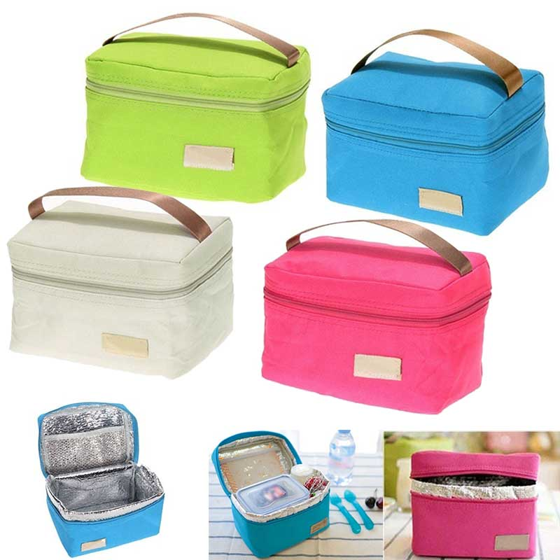 Travel Oxford Tinfoil Insulated Cooler Thermal Picnic Lunch Bag Waterproof Tote Lunch Bag for Kids Adult  BS88 sannen 7l double decker cooler lunch bags insulated solid thermal lunchbox food picnic bag cooler tote handbags for men women
