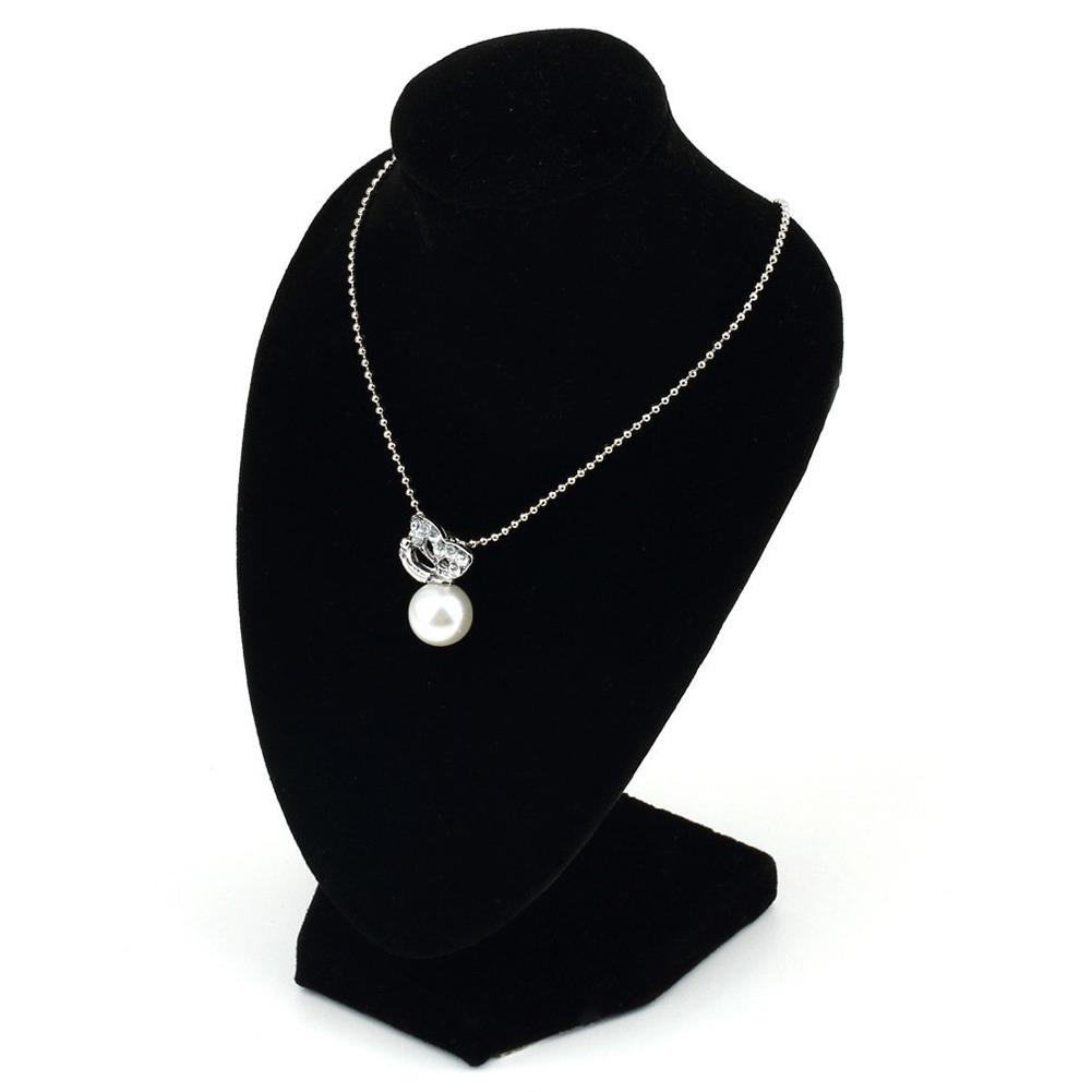 Black Mannequin Necklace Jewelry Pendant Display Stand Holder Show Decorate New