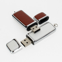 Pen Drive Black Metal Leather Usb Flash Drive 4GB 8GB 16GB 32GB 64GB 128GB USB 2.0 Real Capacity Pendrive Free Print LOGO U Disk