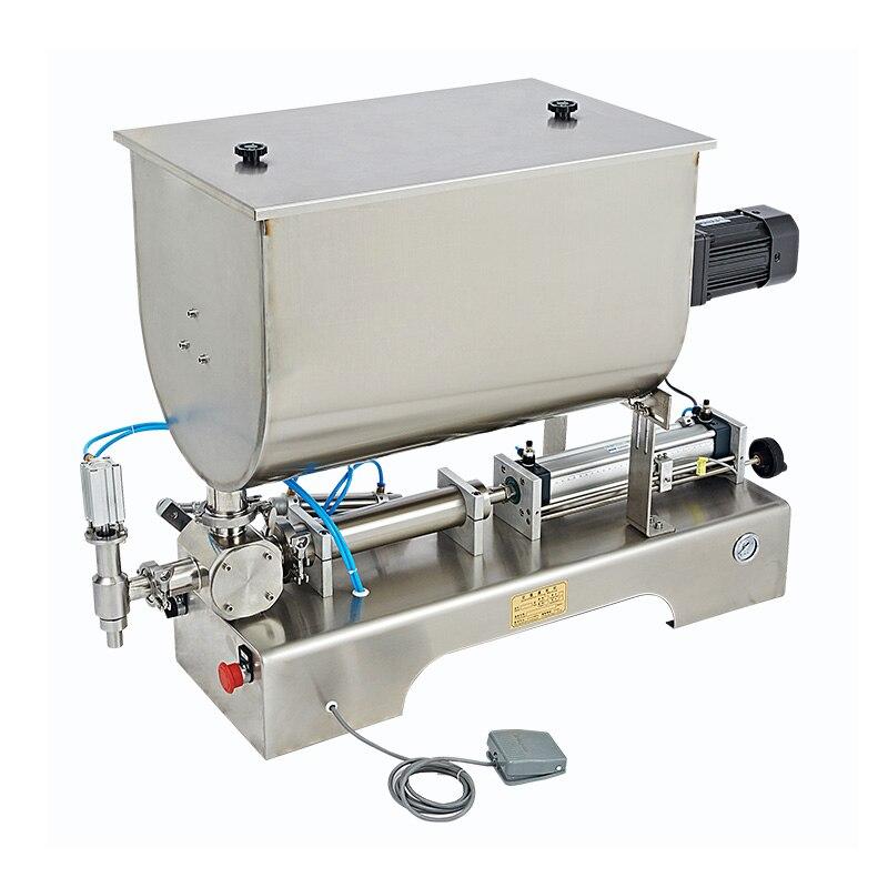 SHENLIN Pasta sauce filling machine hot pepper paste mixing filling machine chili paste filler pneumatic filling machine 1000ml