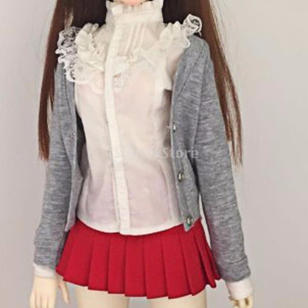 Cardigan Sweater Doll Clothes With Buttons For1/3 1/4 BJD SD LUTS Dollfie Dolls Accessories new 1 3 22 23cm 1 4 18 18 5cm bjd sd dod luts dollfie doll orange black short handsome wig