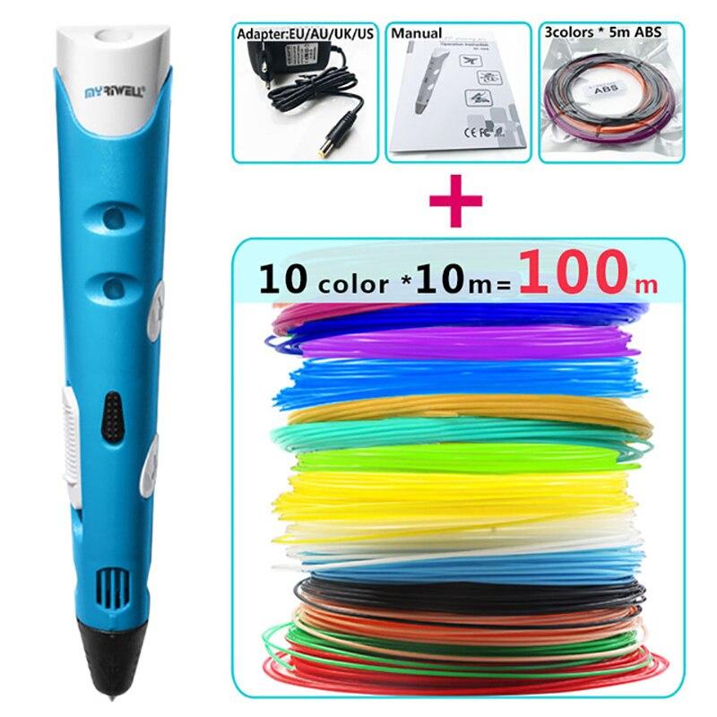 myriwell 3d pen 3d pens abs 1 75mm pla filament 3d printed pen 3 d pen