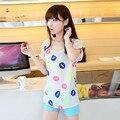 Новые Женщины Красочные Губы Печати С Коротким Рукавом Шифон Топ Футболка Мода Повседневная Свободные Ти Топы дешевые-одежда-Китай для повседневной жизни