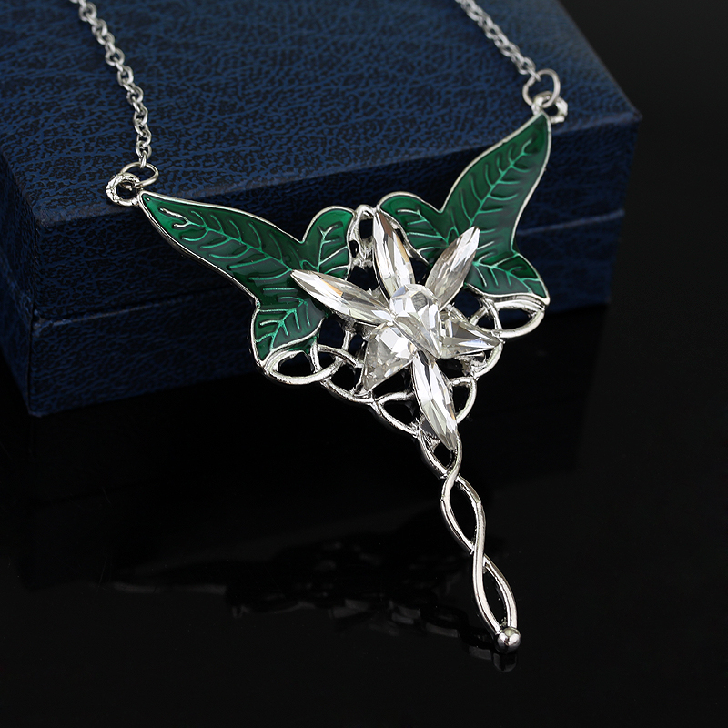 Free shipping silver long elven leaf pendant arwen evenstar pendant free shipping silver long elven leaf pendant arwen evenstar pendant necklace for men and women movies jewelry wholesale in pendant necklaces from jewelry aloadofball Choice Image